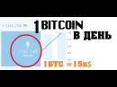 BITCOIN 15 000 долларов 1100 THs HASHFLARE 1 биткоин в день на облачном майнинге