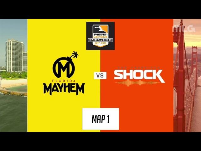 Florida Mayhem vs San Francisco Shock (Map 1: Dorado) | Inaugural Preseason