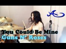 Guns N' Roses - You Could Be Mine Drum cover by Ami Kim (female drummer)