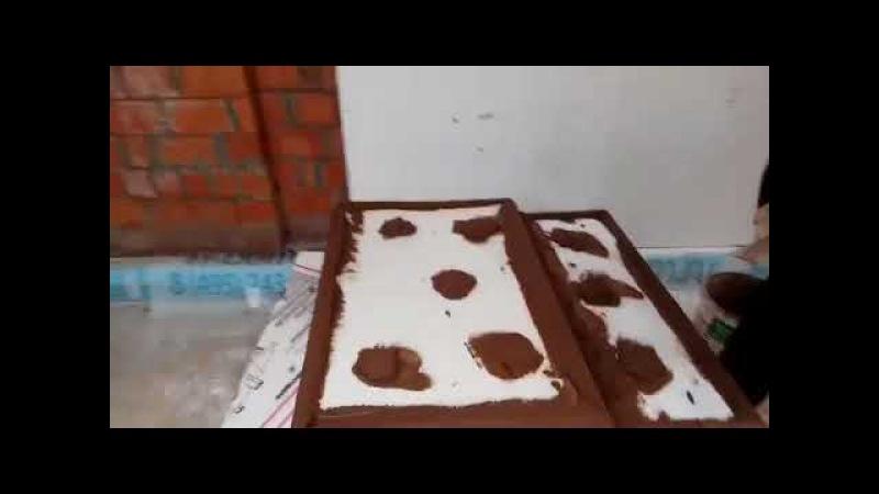 Приклейка пенополистирола с одновременным выравниванием плоскостей фасадов дома