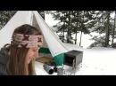Hot Tent Trial Run - Mew Lake Dec 9 10 , 2017 PART 1/2