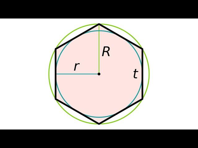 Как построить правильный шестиугольник.