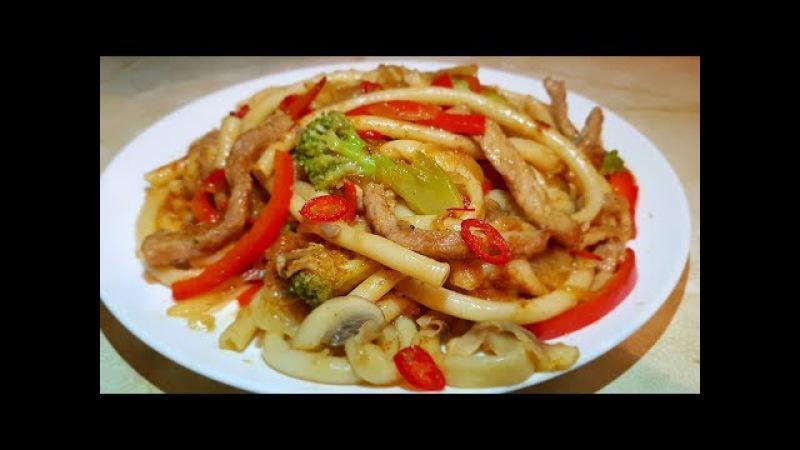 ВОК по Цыгански с соусом Терияки Макароны с мясом и овощами Gipsy cuisine