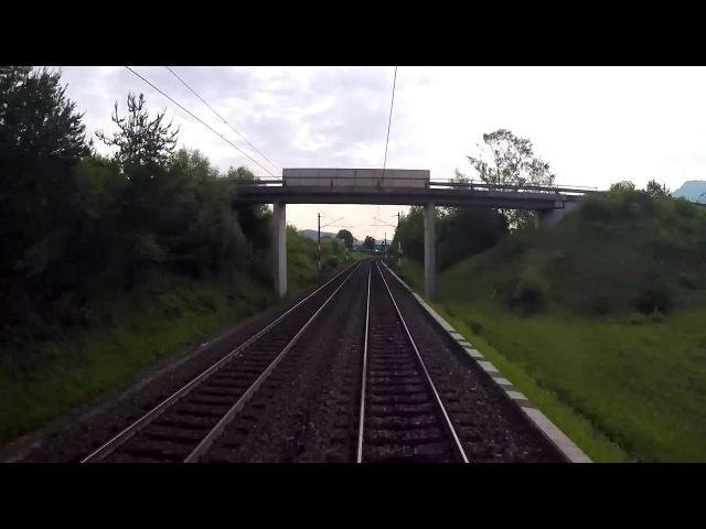 Вид из кабины машиниста. Италия -Австрия -Германия