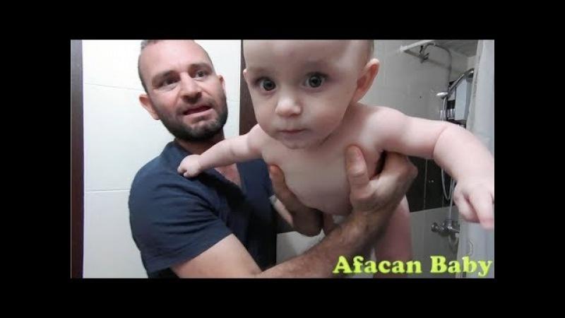 Babalar Bebek Bakarsa | Eğlenceli Çocuk Videosu | Funny baby