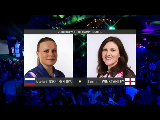 2018 BDO World Darts Championship Quarter Final Dobromyslova vs Winstanley