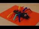 Паук из пластилина Плей До Play-Doh и трубочек. Поделки для детей своими руками на Х...