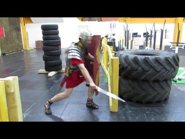 Roman fencing - 7. COH.II.LEG.X.FRT Римское фехтование - 7. Варианты укола/удара в ногу.