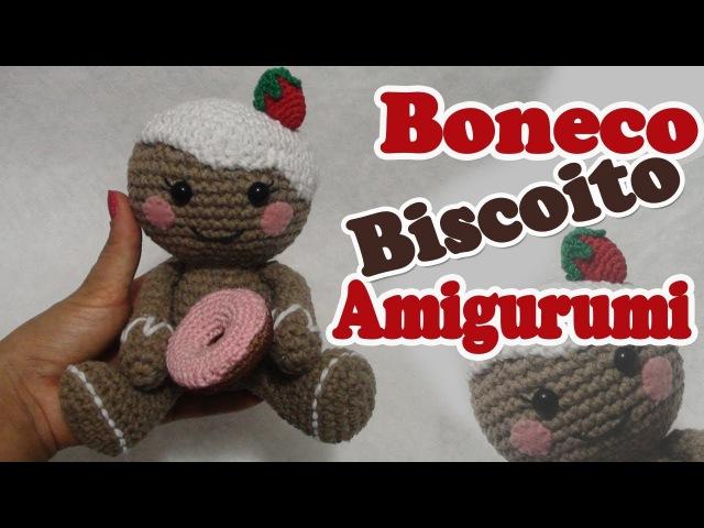 Boneco biscoito em crochê amigurumi
