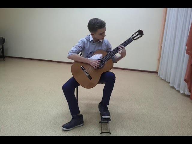 Машинистов Сергей Алексеевич, гитара, Новооскольская ШИ