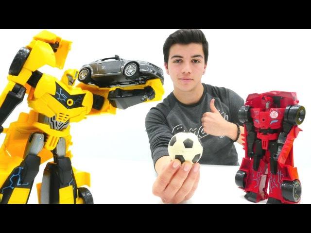 Transformers. Sideswipe ve Bumblebee kavgasını çözüyoruz. Robot oyunları