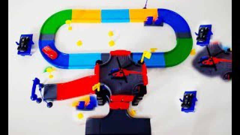 Biggest Hot Wheels Parking Garage Services Playset Review Tayo Bus and Car Toysfor Kids