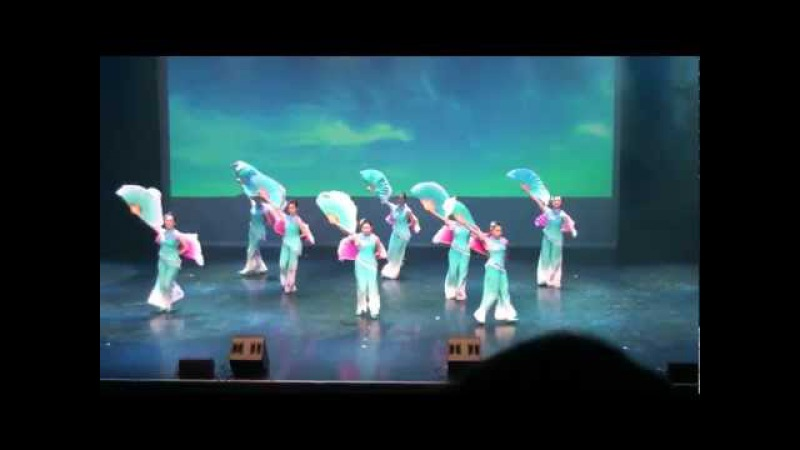 Beautiful Chinese Fan Dance - Flying Kites 放风筝 - Colours of Dance at the River Rock Theatre