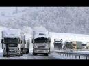 Грузовики в снежном плену на трассе М4 и Р298.