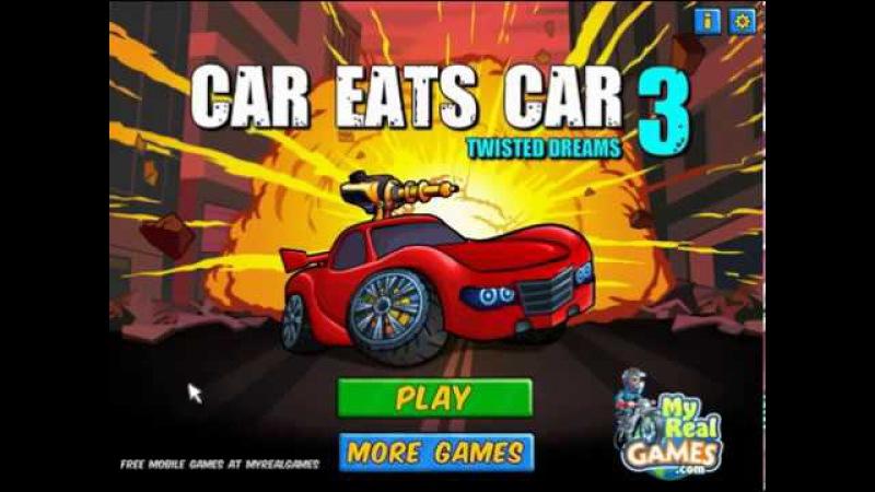 Машина ест Машину 3 игра Car Eats Car 3 - Побеждаем босса LOADERR, про машинки как мульт 3