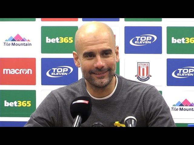 Stoke City 0-2 Manchester City - Pep Guardiola Full Post Match Press Conference - Premier League