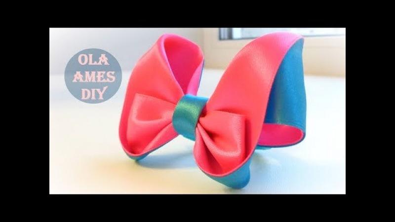 Бантики из атласных лент Канзаши Мастер Класс/ Satin Ribbon Bow/ Laço de fitas/ Ola ameS DIY
