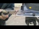 Ржавчина и оцинковка авто. Эксперимент с самоделками. Развальцовка - вальцовка швов на Chery B14.