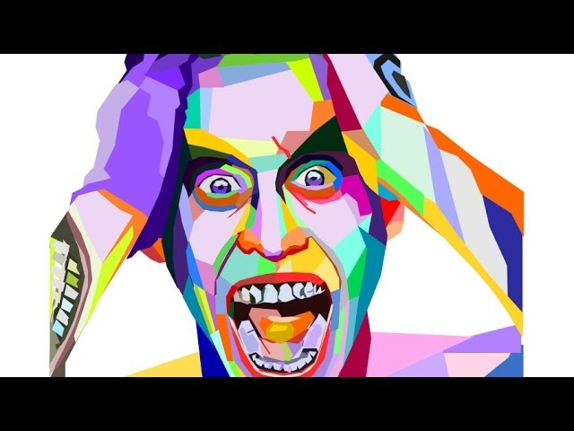 Inkscape WPAP Art Tutorial | Drawing Joker From Suicide Squad