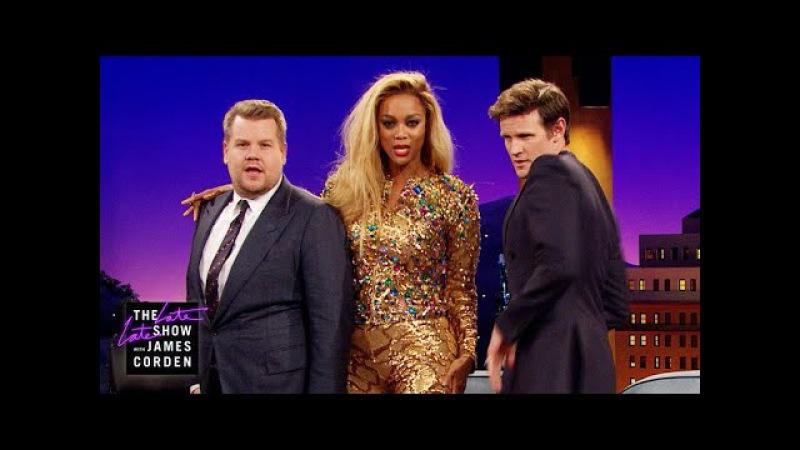 Tyra Banks Teaches James Corden NLF