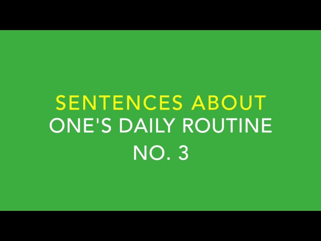 Let's Speak Arabic Unit Two, Lesson 9: Talking about one's Daily Routine