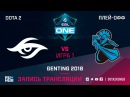 Team Secret vs NewBee - Game 1, Semifinals - ESL One Genting 2018