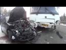 23.12.17 под Михайловском девушка на Volkswagen врезалась в автобус.