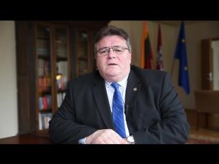 Міністр замежных спраў Літвы віншуе беларусаў з #БНР100