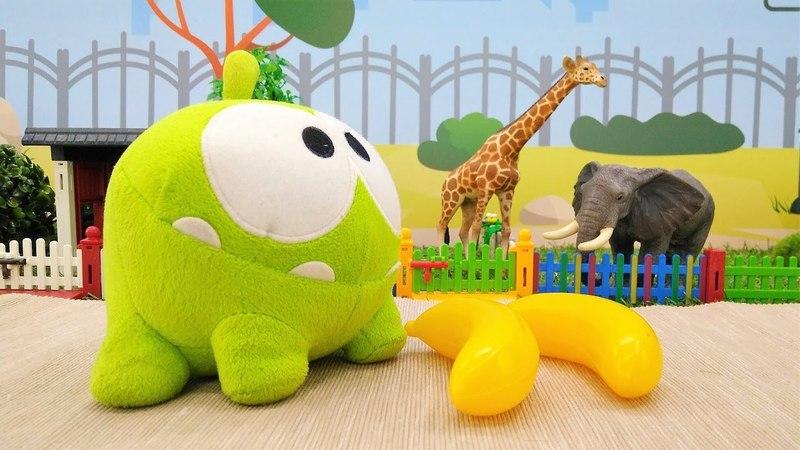 Приключения Ам Няма в зоопарке. Видео на английском языке.