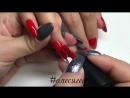 Урок маникюра красных ногтей