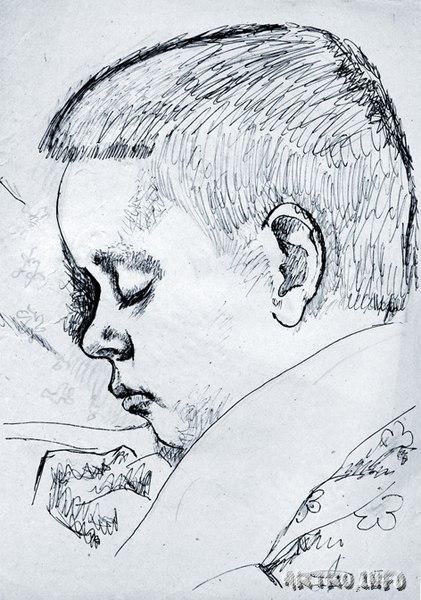 """Портрет сына """"Александр Дронов"""" Год: 1995"""