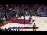 LeBron James attacks the rim!