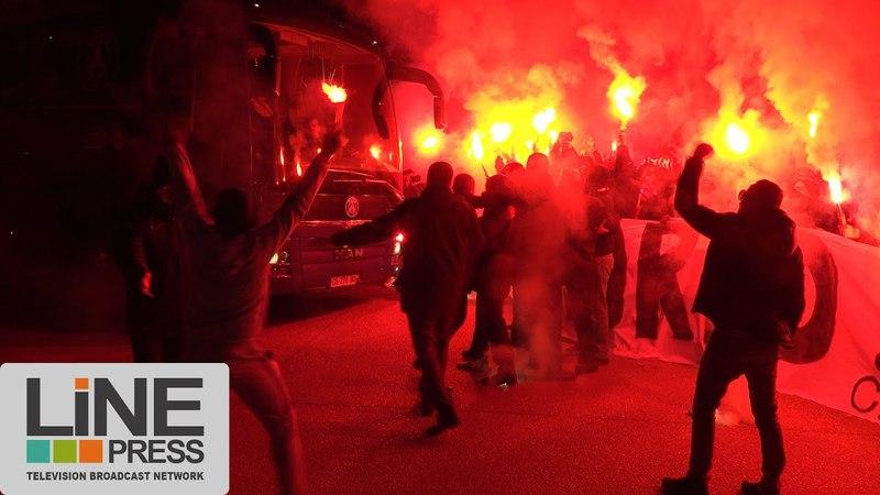 PSG / REAL les supporters chauffés à blanc / Rueil-Malmaison (92) - Paris - France 05 mars 2018