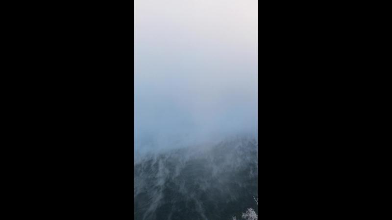 Енисей под Красноярском в мороз под 30 градусов.