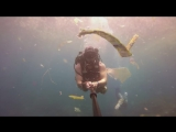 Британец  заснял огромные скопления пластиковых отходов во время погружения в океан у острова Нуса Пенида