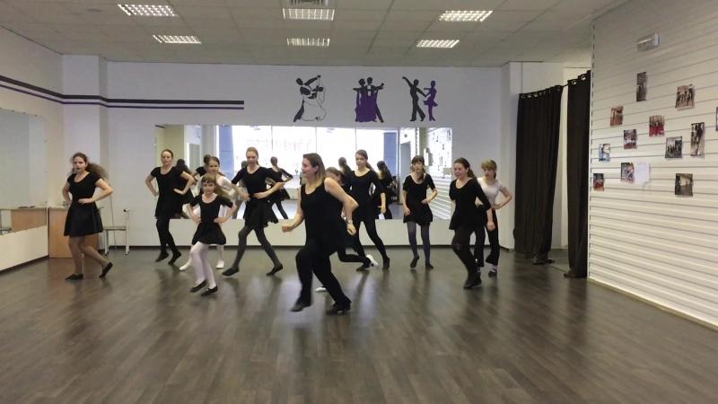 Изучение новой вариации Джайва старшая группа ансамбля бального танца Студия Давайте Потанцуем