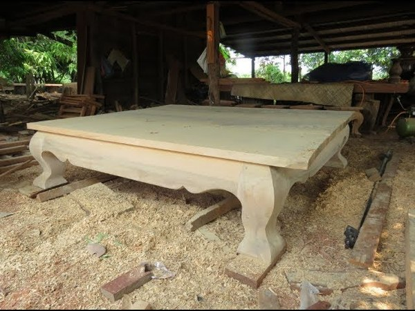 ABC woodworking - Wooden Giant Table Walnut slab and white oak dining King Table 2018