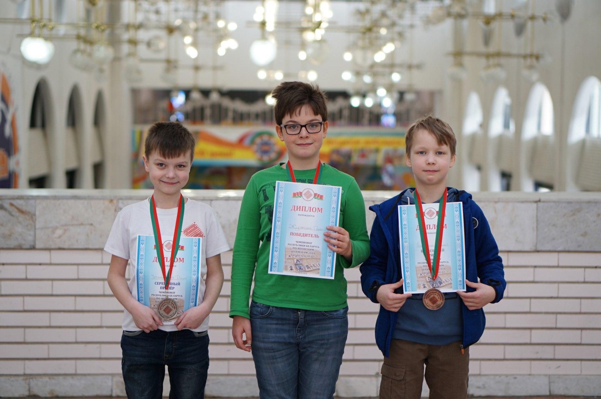 Призеры чемпионата Беларуси 2018 (до 10 лет)