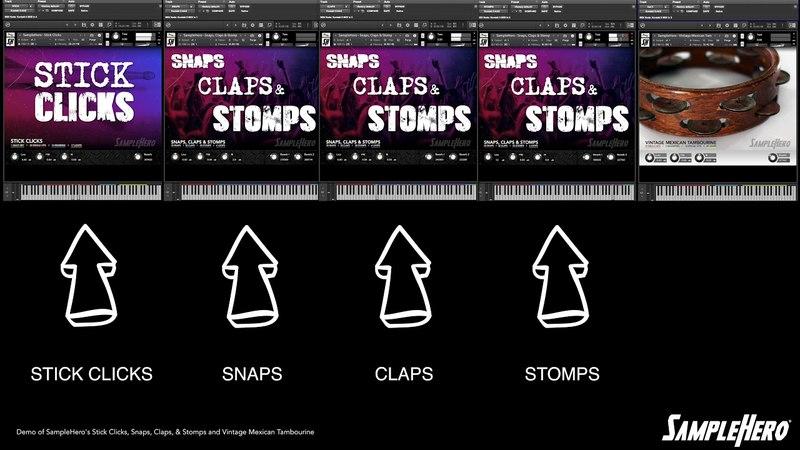 SampleHero - Snaps, Claps Stomps Demo Video