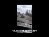Погоня за полицейским в стиле GTA в городе Уральск