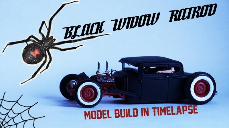 BLACK WIDOW RATROD build in scale in timelapse by hmtmodels/SHRC