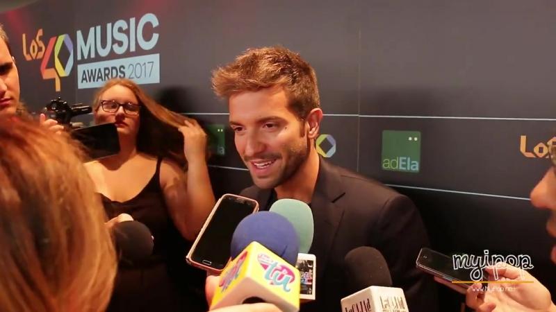 Entrevista a Pablo Alborán durante la alfombra azul de la cena de nominados a Los 40 Music Awards el pasado 14092017