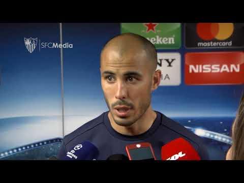 PIZARRO: HASTA EL PRIMER GOL DE ELLOS FUIMOS MUY SUPERIORES. 03/04/18. Sevilla FC