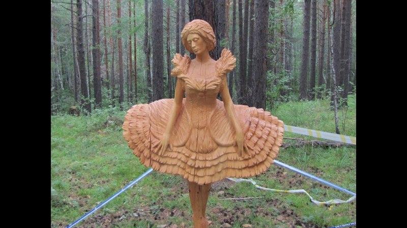 097 Парк деревянные скульптуры России Park wooden sculpture carving резьба по дереву бензопилой арт