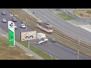 Переворот авто попал на видео