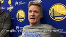 Entire KERR interview: Steph Curry MCL, Durant will have ball more, Klay/Draymond updates