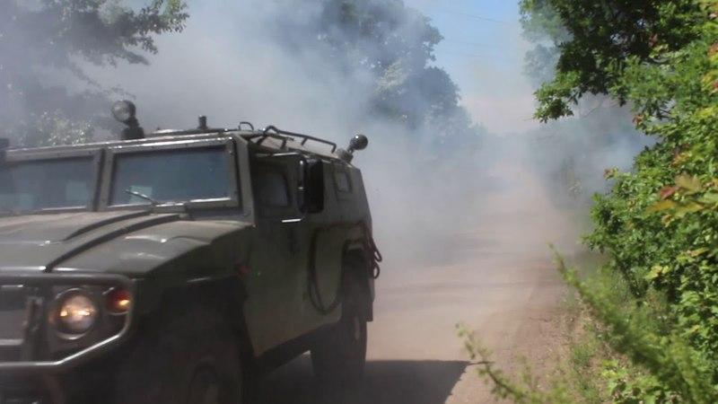 В соединение спецназа ЮВО поступил новейший бронеавтомобиль КамАЗ «Тайфунёнок»