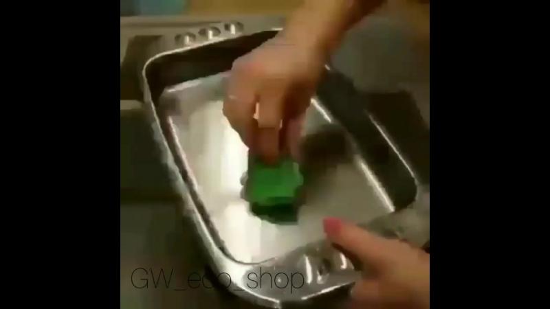 Моем посуду без жидкости для посуды