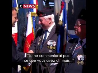 Soyez très ferme avec ces gauchos qui ne veulent que foutre la merde  les conseils d'un vétéran à Macron lors de la cérémonie du