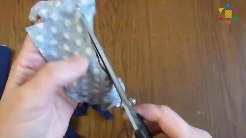 Нарезка полосок ткани для коврика